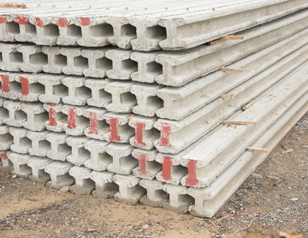 pilings: Contractors space for the storage of finished concrete pilings.