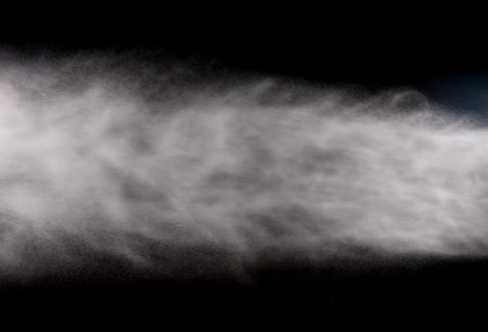 jet stream: water spray of high pressure water jet on black background