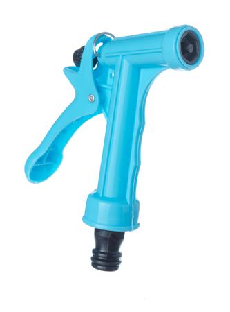 irrigation equipment: nozzles water irrigation equipment plastic sprayer isolated on white background Stock Photo