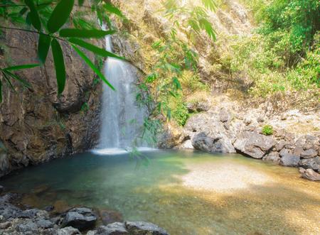 Chock Ka Din waterfall in Kanchanaburi Thailand.