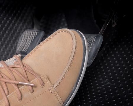 push accelerator pedal of the car