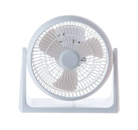 electric grid: Electric Fan isolated on white Stock Photo