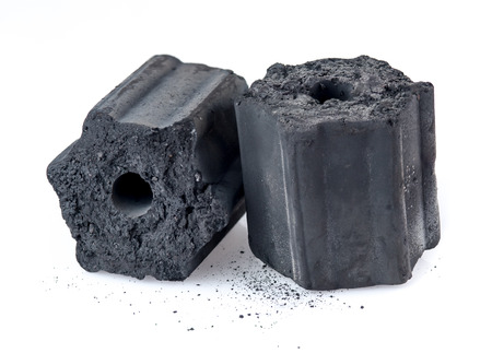 Natural wood charcoal isolated on white,Non smoke and odorless charcoal Stock Photo - 85039328