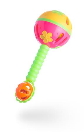 Campana de juguete de plástico para niños sobre fondo blanco Foto de archivo - 88850164