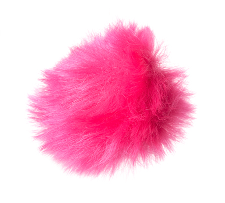 Abstract Pink fur ball isolated on white background