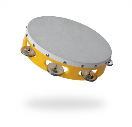 Tambourine isolated on a white background