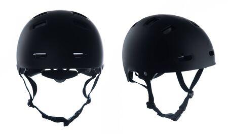 Black skater helmet isolated on white background 版權商用圖片 - 131771336