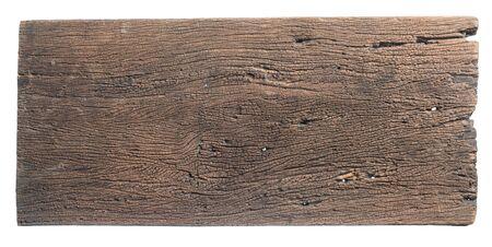 Old wooden sign board background for add text design Standard-Bild