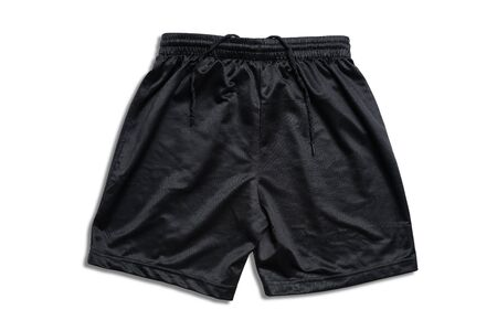 Black running short pants on white