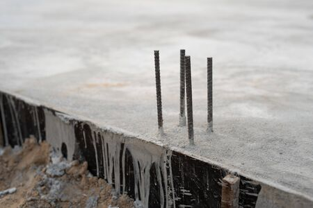 Casting of concrete posts for fixing posts