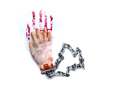 Halloween decorations,Fake Severed Hand with Blood