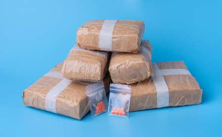 Amphetamine,substance abuse amphetamine tablets in plastic bags,Dangerous drugs