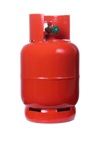 LPG Gas Bottles on white background Banque d'images