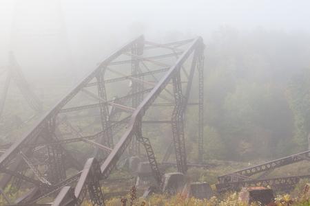 Collapsed Metal Framing from Bridge 写真素材