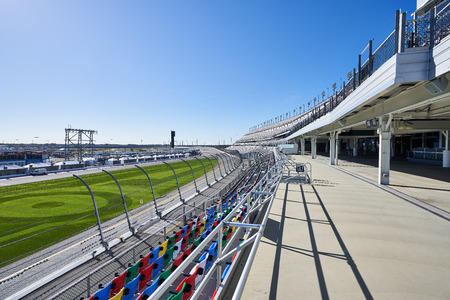 Empty Grandstands at Daytona International Speedway 新聞圖片