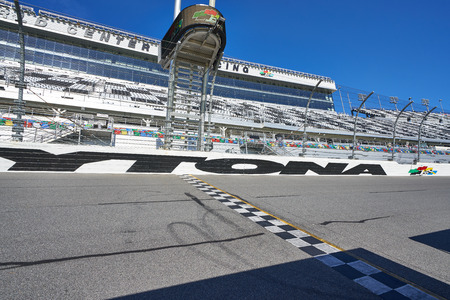 The Daytona Speedway Finish Line
