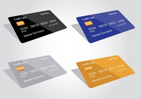 Credit card on white 向量圖像