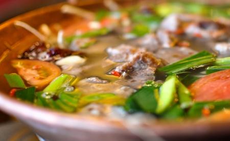 chafing dish: Lijiang pot ribs