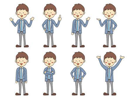 Office worker illustration pose set