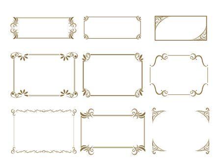 Decorative line material set