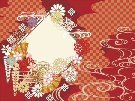 Japanese pattern background material for New Year
