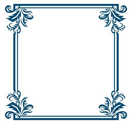 Baroque Decoration Elegant Vintage Frame Decorative Lines