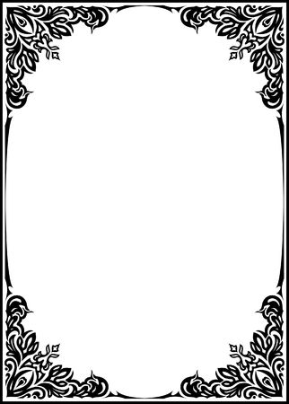 fonts vector: Decorative frame