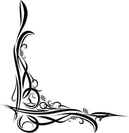 Elegant corner (vector illustration)