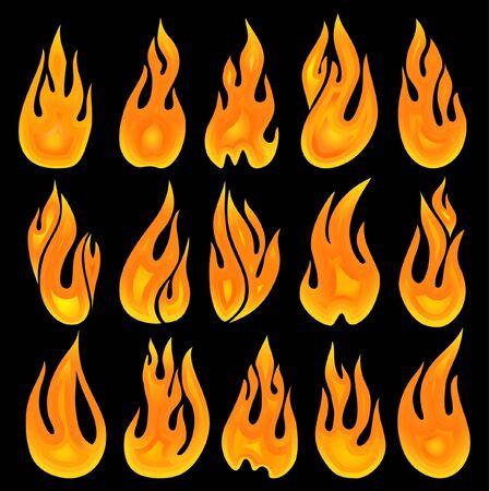 fifteen vector fires Stock Photo - 2923977
