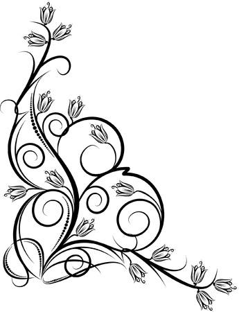 beautiful floral corner Иллюстрация