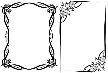 accents: floral frames