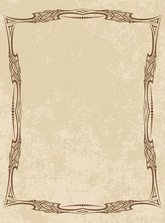 decorative vector frame Illustration