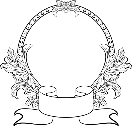vintage oval frame Illustration