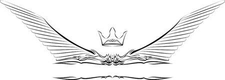 vector banners or headers: Heraldic symbol