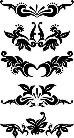 Rica colecci�n de elementos de decoraci�n para el dise�o o tatuaje