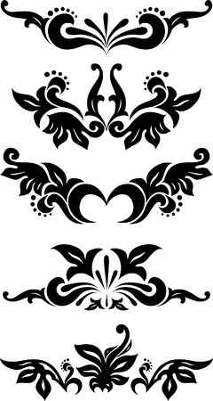 Rich collection of decor elements for design or