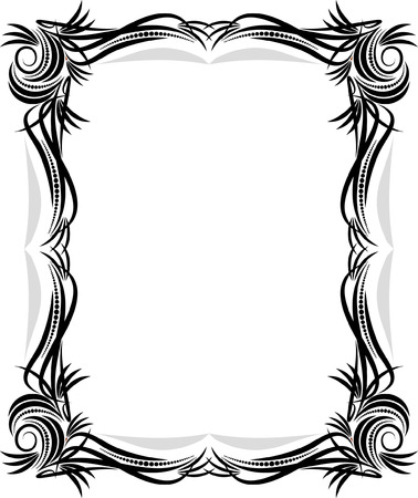 national border: Classical vector frame.