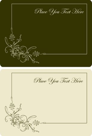 Pair of beautiful visit-cards.  Vector