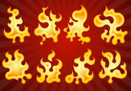 Collection of fires. Stock Vector - 7099735