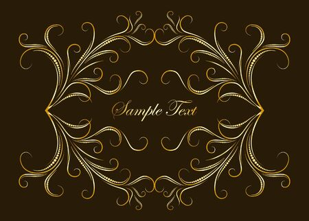 Decorative gold background for text. Vector