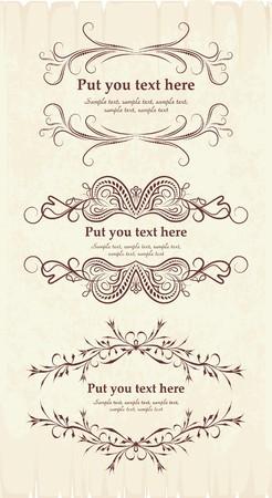гребень: Элегантный текстовые фреймы. Иллюстрация