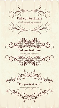 Elegante tekstframes.  Stock Illustratie