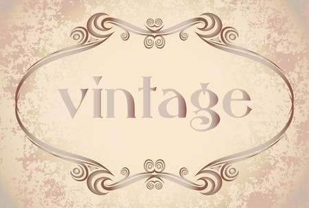 Decorative vintage frame. Vector
