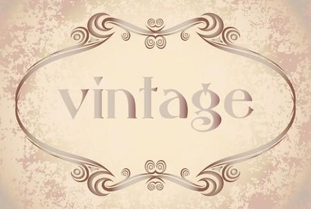twig: Decorative vintage frame. Illustration