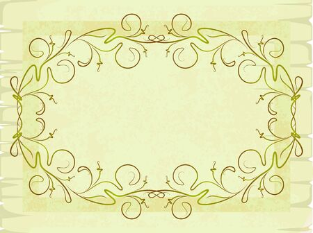 Old-fashioned frame. Stock Vector - 7099857