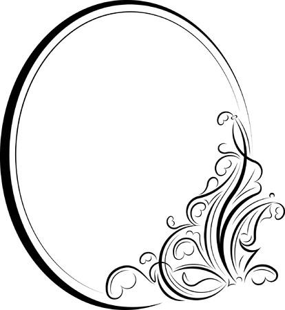 oval frame: Elegant oval frame.