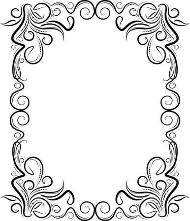 cartouche: Retro-styled frame.