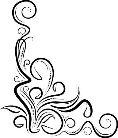 ringlet: Decorative corner.