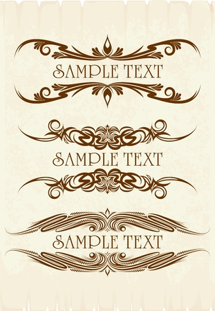 Vintage frames for text  Stock Vector - 9929645