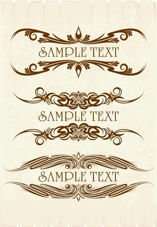 Vintage frames voor tekst  Stock Illustratie